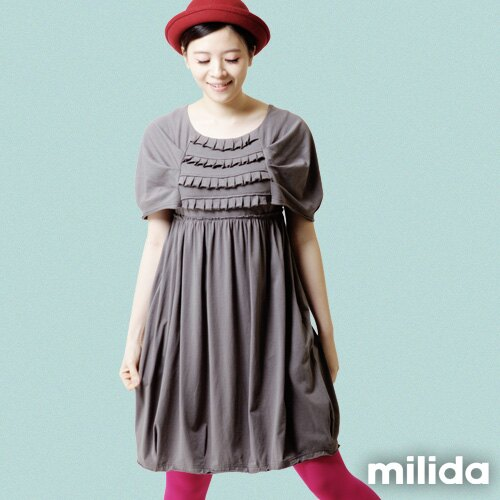 【Milida,全店七折免運】-春夏商品-甜美款-公主袖洋裝 9