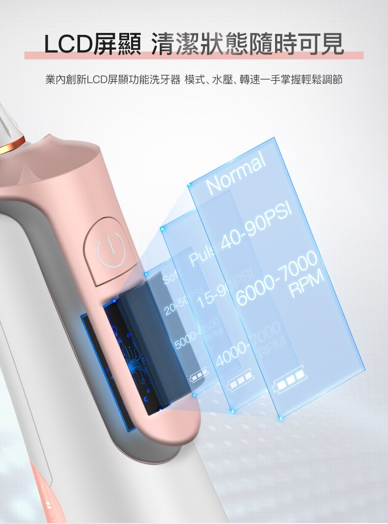 領券再折$168【Proscenic】台灣浦桑尼克 JL-550 脈衝水柱無線攜帶沖牙器 6