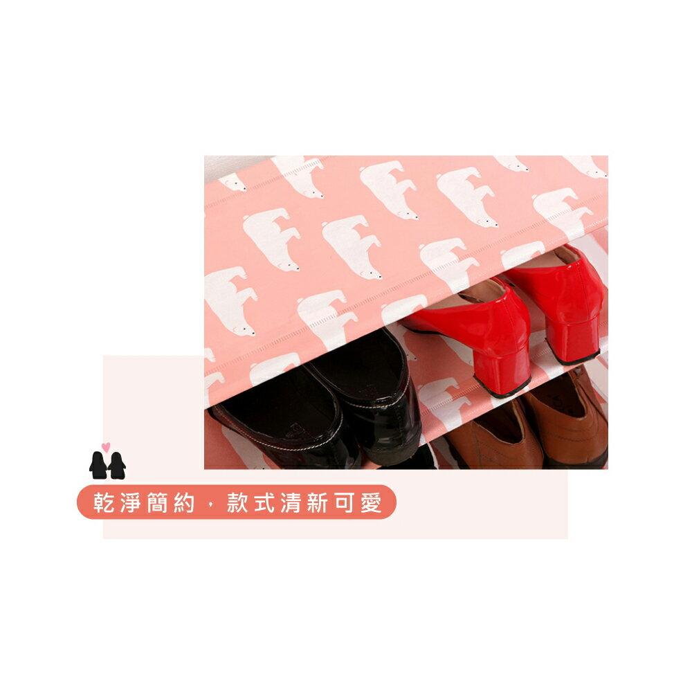 ORG《SD1714e》動物造型~ 四層鞋架 四層 鞋櫃鞋架 拖鞋架 組裝鞋架 收納架 置物架 DIY鞋架 不鏽鋼管 5