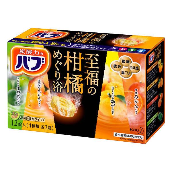 【KAO 日本花王】四合一至福柑橘泡澡碇12碇