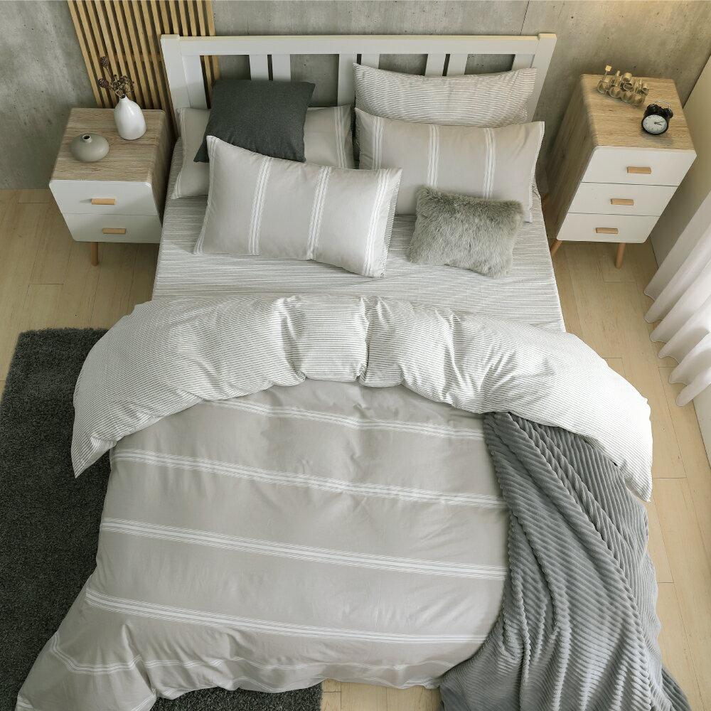 床包組/雙人特大-純棉床包組/日系無印[鴻宇]台灣製2052