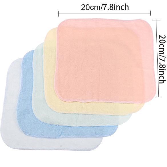 8PCS Baby Wash Handkerchief Multicolor Feeding Wipe Cloth Towel 0