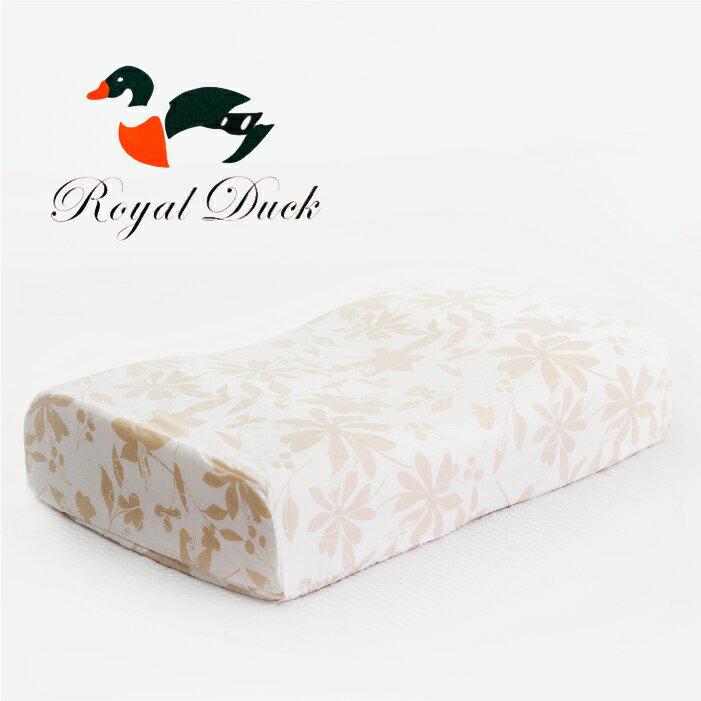 【名流寢飾家居館】ROYAL DUCK.40X60CM.100%純天然乳膠枕.凹弧蝶型專利.專為側睡設計