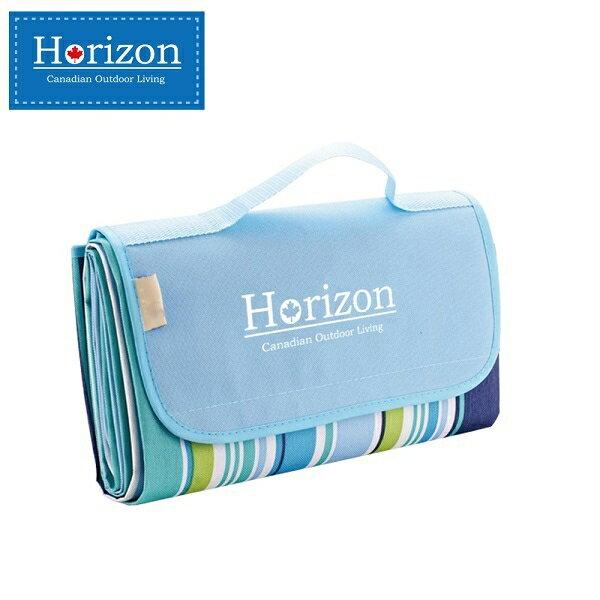 【淘氣寶寶】加拿大 天際線 Horizon 多 防潮沙灘野餐墊 加贈防水輕巧收納袋 180*145-天空藍