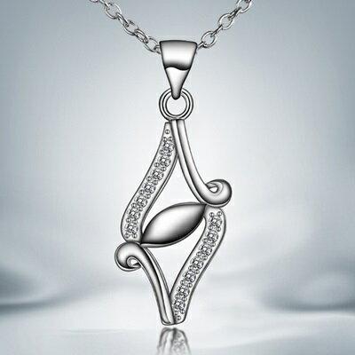 ~925純銀項鍊 鑲鑽吊墜~獨特菱形 迷人母親節生日 女 73ax34~ ~~米蘭 ~