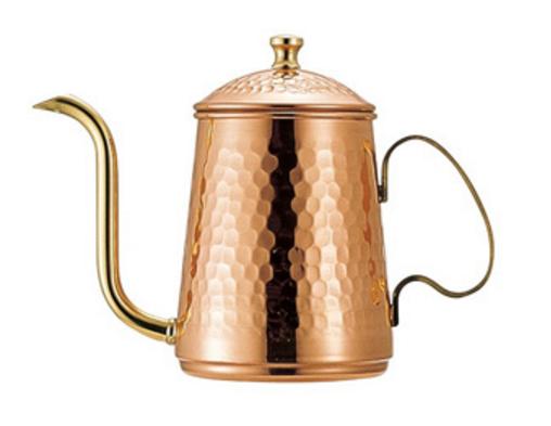 日本Kalita 銅壺 手沖壺 茶壺 咖啡壺 600mL +耳掛式咖啡一盒 [現貨]