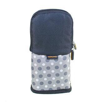 【KOKUYO】 critz多功能直立式筆袋(鐵灰圓點) PC005-D