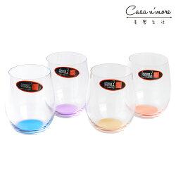 Riedel O系列 HAPPY O 彩色水晶杯 四入組 水杯 酒杯 (橙/黃/紫/藍)
