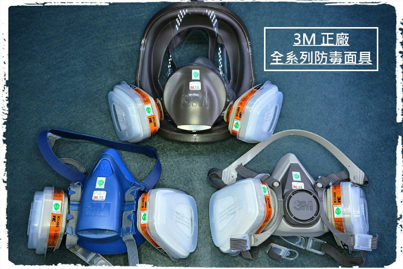 3M正廠 7502 6200 半罩式防毒面具(7件全配) 半面過濾口罩 防護面罩 濾毒罐過濾棉烤漆噴漆 化工農藥塗裝化學