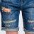 ET BOiTE 箱子  格紋補丁牛仔短褲  現貨【單筆滿1000結帳再折$100】 1