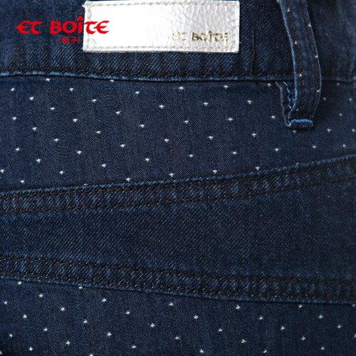 【ET BOiTE 箱子】  腰褶點點男友褲【0218-0222全店滿千折100,再加碼點數20倍送】 1