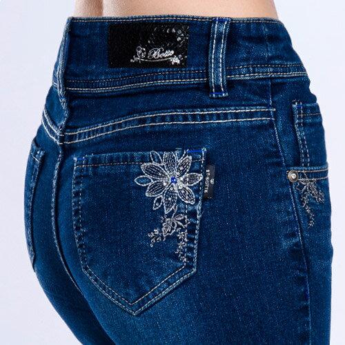 【結帳輸入『fashion2228-2』滿$888現折$100】【 9折限定↘】巴洛克風情高腰直筒丹寧褲 - BLUE WAY  ET BOiTE 箱子 2
