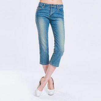 【ET BOîTE 箱子】 低腰細直七分牛仔褲