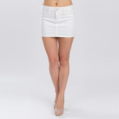 海洋風銀線針繡白色短裙 - BLUE WAY  ET BOiTE 箱子 0
