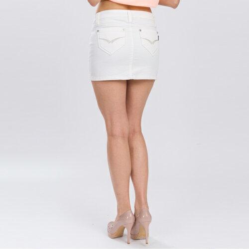 ET BOiTE 箱子  海洋風銀線針繡白色短裙   【單筆滿1000結帳再折$100】 1