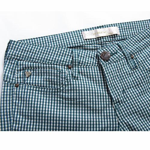 【5折限定↘】ET BOiTE 箱子  率性格紋中腰直筒褲 1