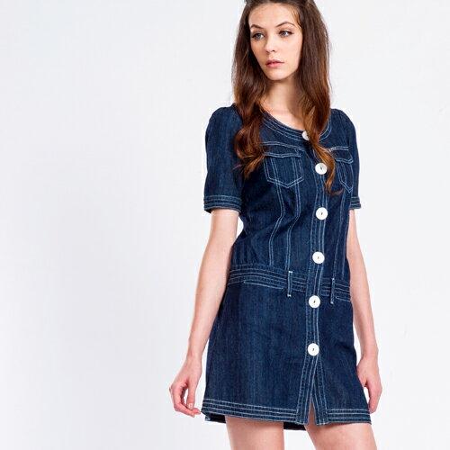 【雙11持續發燒↘均一價$990】短袖復古甜美丹寧洋裝 - BLUE WAY  ET BOiTE 箱子 1