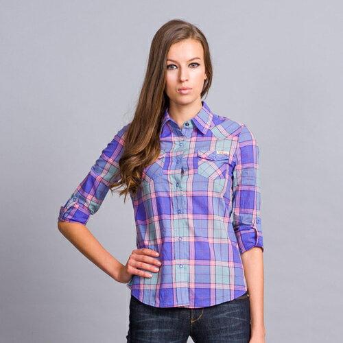 【滿千再折$188 x 888元優惠↘】粉紫格子襯衫 - BLUE WAY  ET BOiTE 箱子 0