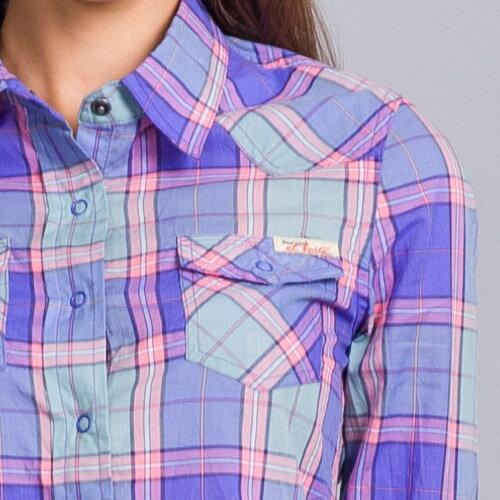 【滿千再折$188 x 888元優惠↘】粉紫格子襯衫 - BLUE WAY  ET BOiTE 箱子 1
