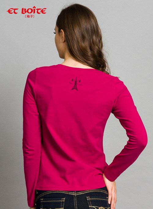 【限時5折↘】ET BOiTE 箱子  蕾絲骷顱頭T恤(紅紫)   【單筆滿1000結帳再折$100】 1