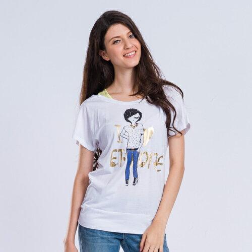 ET BOiTE 箱子  時尚娃娃假兩件T恤(2色)   【單筆滿1000結帳再折$100】 0