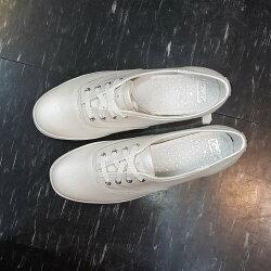 Keds x kate spade NEW YORK 白色 珍珠白 小白鞋 皮革 荔枝紋 新娘 婚紗 婚嫁系列 聯名款