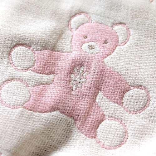 Hoppetta - Souleiado - 六層紗普羅旺斯熊包巾 (粉紅) 3