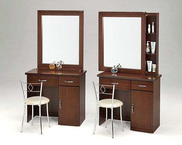 【尚品傢俱】GF-A0910 幸運草白橡/胡桃 2.8尺房間桌椅化妝台鏡臺(含椅)