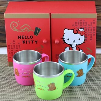 【珍昕】 王樣 不銹鋼水果熊雙層熱杯~(3色)/ 隔熱杯