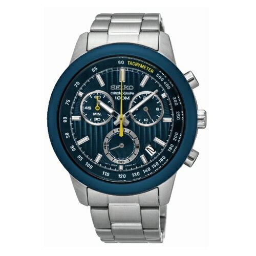SEIKO CS線條時尚計時腕錶 /8T68-00A0B/SSB207P1