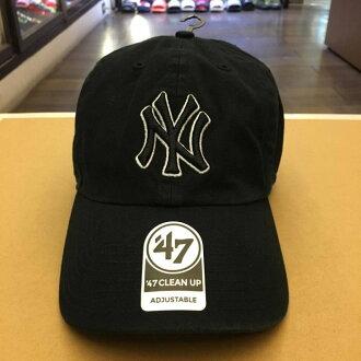 BEETLE 47 BRAND 老帽 紐約 洋基 NEW YORK YANKEES DAD HAT MLB 全黑 白框