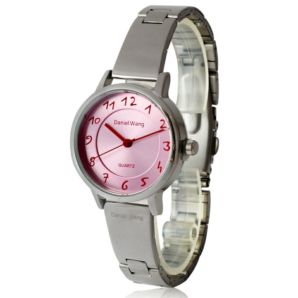 Daniel Wang 3139-S 典雅小巧錶帶銀框手寫數字質感手錶 2