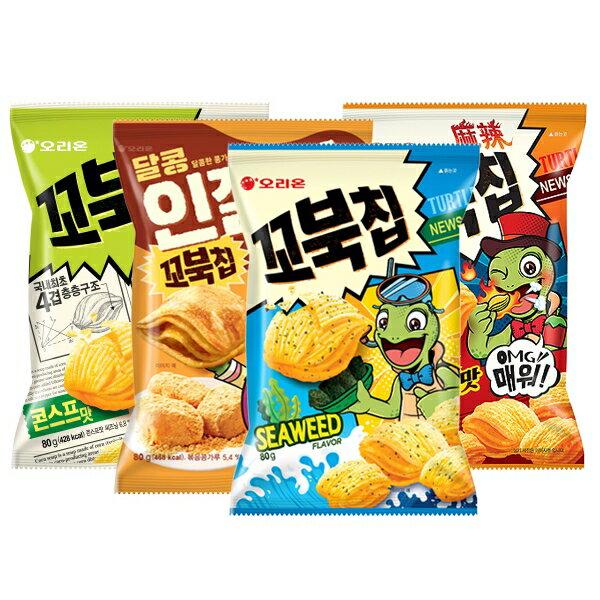 韓國 好麗友 烏龜玉米脆餅(80g) 款式可選【小三美日】 進口/零食/團購◢D784409
