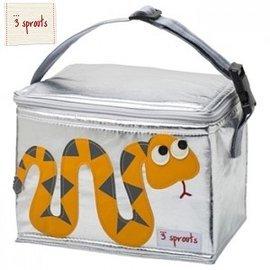【淘氣寶寶】加拿大 3 Sprouts 午餐袋-小蛇【 保溫效果,貼心扣環 23 cm寬*17cm高*18cm深】【 貨● 】
