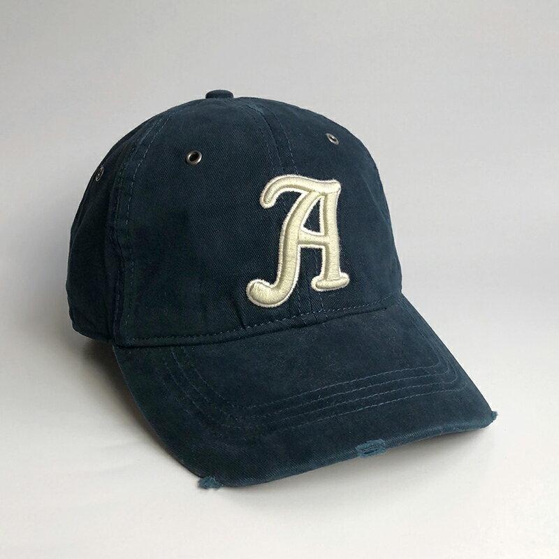 美國百分百【Abercrombie & Fitch】帽子 配件 老帽 AF 棒球帽 經典 麋鹿 Logo 深藍 H417