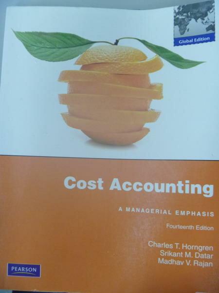 ~書寶 書T3/大學商學_ZCV~Cost Accounting_Charles T. H
