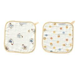 奇哥 快樂小雞 竹纖維紗布方巾(2入) TAL722000【紫貝殼】