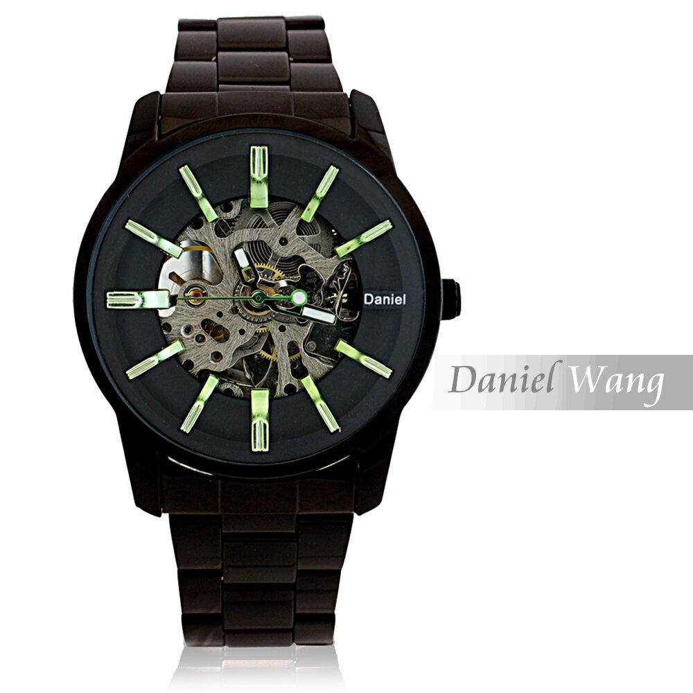 Daniel Wang DW-3142-IP 絢麗閃電雙面鏤空指針式全自動機械錶 3