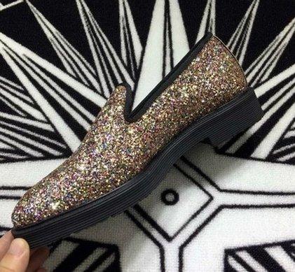 韓國 GD 金色 皮鞋 黑色皮鞋 亮片皮鞋 真皮材質 高品質 1比1訂製 SLP 高優質 聖羅蘭 皮鞋 nike 925