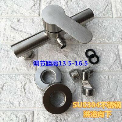 水龍頭 304不銹鋼淋浴龍頭 浴室暗裝三聯浴缸冷熱水龍頭拉絲混水閥套裝