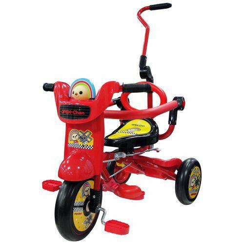 ★衛立兒生活館★OPEN小將!酷炫摺疊童車(紅)/折疊三輪車