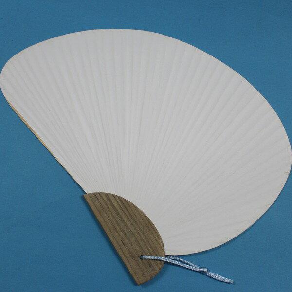 千鳥空白紙扇子手繪扇(大號木柄.竹枝雙面紙)一支入{促60}日系半圓彩繪扇子~5168