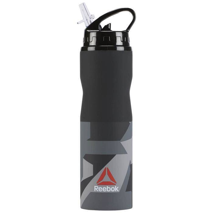 REEBOK UFC WATERBOTTLE 水壺 訓練 慢跑 灰 黑【運動世界】BR4603
