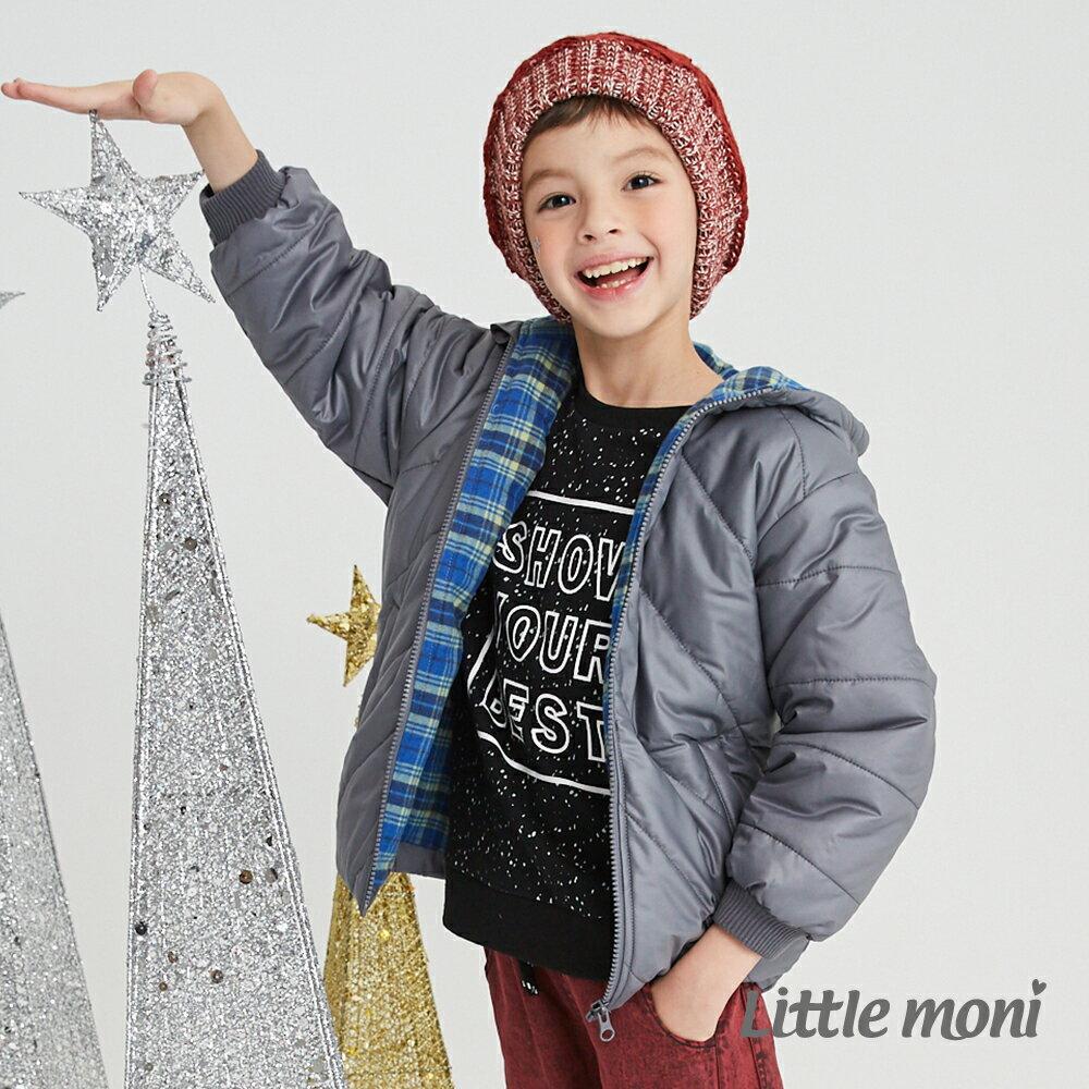 Little moni 3M科技羽絨保暖外套-灰色(好窩生活節) 1