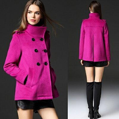 風衣外套毛呢大衣-長版歐美風格寬鬆雙排釦女裝73ir10【獨家進口】【米蘭精品】