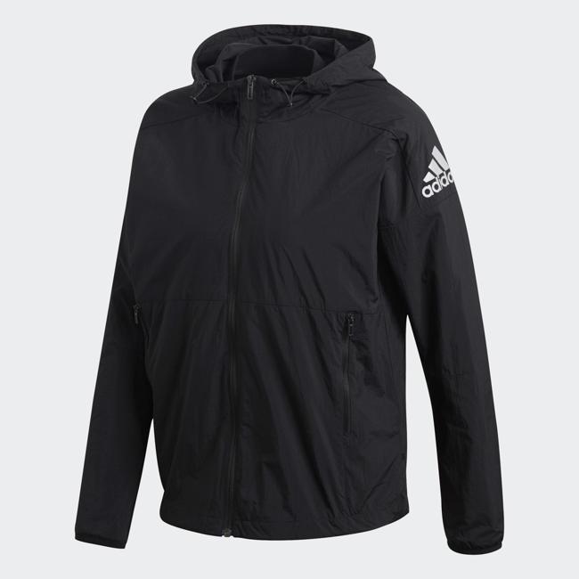 ADIDAS W Id 2in1 Jkt 女裝 外套 連帽 休閒 可組合 兩件式 防風 透氣 黑【運動世界】DM5545