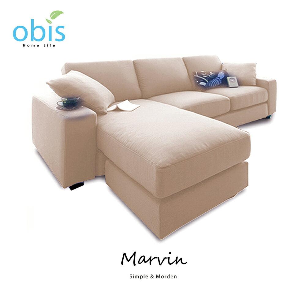 MARVIN 自然風獨立筒L型布沙發【obis】好窩生活節 4