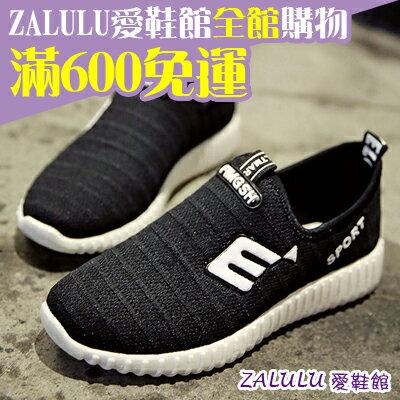 ☼zalulu愛鞋館☼ BE155 透氣網布慢跑運動鞋-黑/紅 36-40偏小