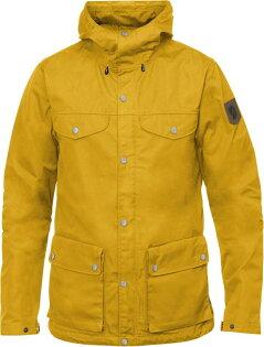 Fjallraven小狐狸登山薄外套軍裝夾克獵裝風衣G-1000ECOGreenlandJacket男款亞版87202A154蒲公英黃