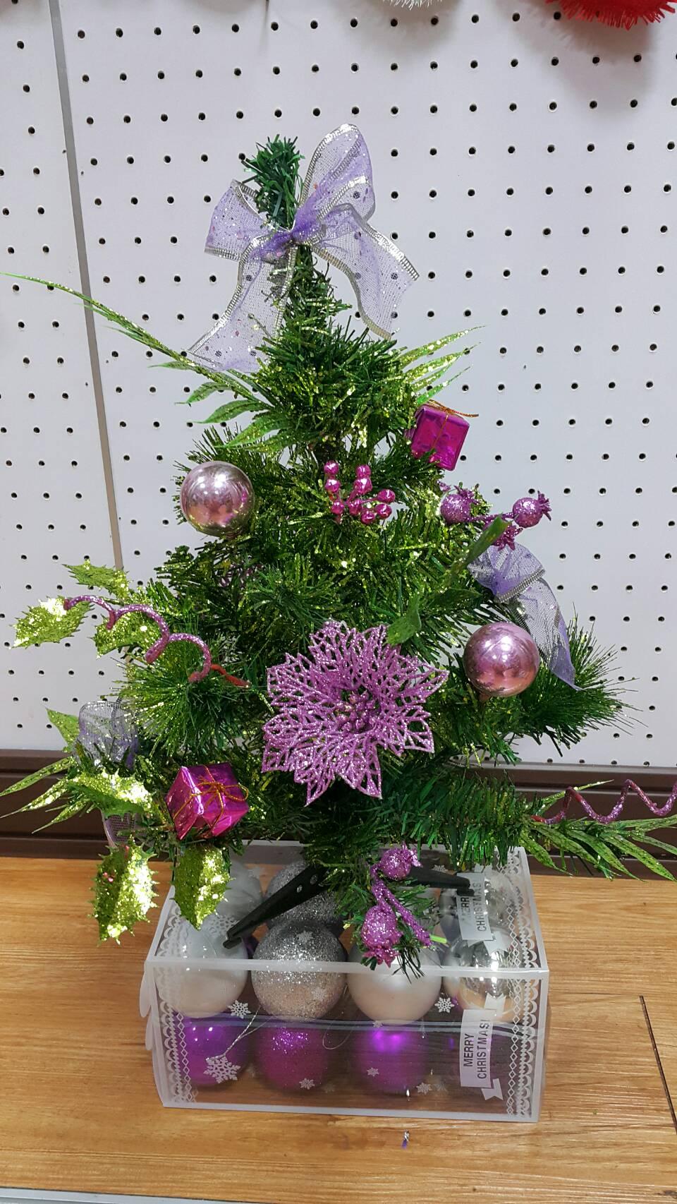 X射線【X454097】40cm裝飾聖誕樹(紫),聖誕樹/聖誕佈置/聖誕燈/會場佈置/材料包/成品樹/小樹
